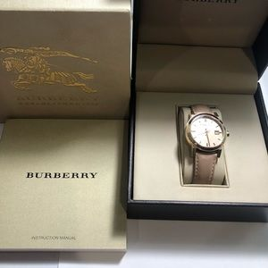 Leather Burberry Watch